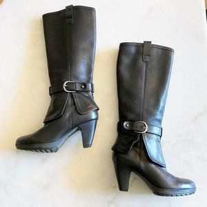 New! Blondo Canada tall black high heeled leather boots, waterproof! (size 6.5M)
